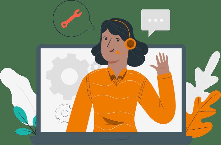Frau mit Kopfhörern, die ihre Hand hebt