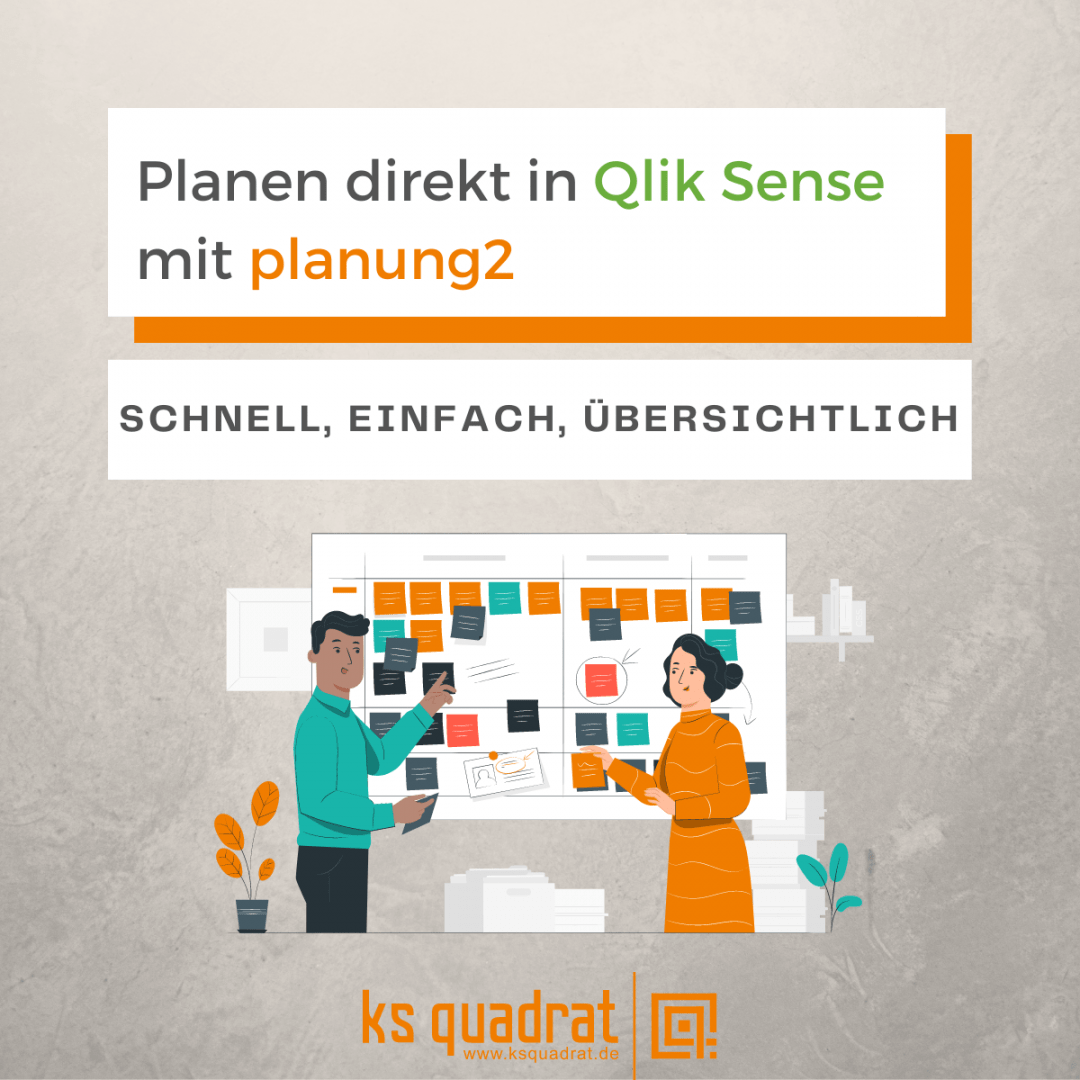 Planen direkt in Qlik Sense mit planung quadrat